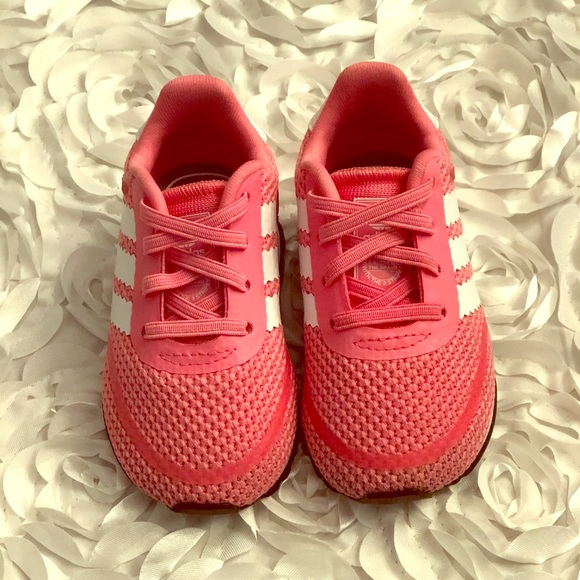 half off 3e6ec b827b adidas Other - EUC Adidas Pink Shoes size 4